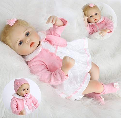 ZIYIUI Poupée Reborn 22''/55 cm Réaliste Bebe Reborn Fille Souple en Silicone réaliste en Vinyle Souple Lifelike Mignon Nouveau-né Reborn Baby Dolls Garçon Fille Jouets A3FR