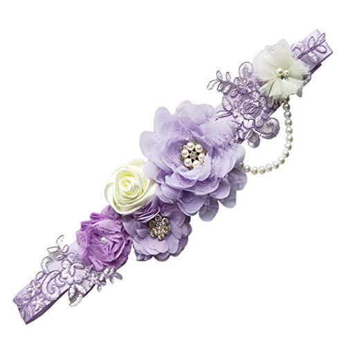 Maternity Sash Belt Pregnant Wedding Sash Belt Bridal Sash Belts Y01 (lavender)
