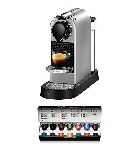 Krups Machine à café Nespresso xn740b New Citiz, système de chauffage à thermobloc, réservoir à eau 1l, 19Bar, argent