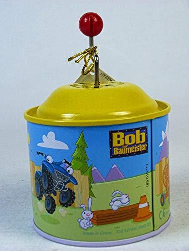 64808 Bob der Baumeister Musikdrehdose, Blechspielzeug mit Musik, Spieluhr, Drehdose, Drehorgel für Kinder ab 18 Monate