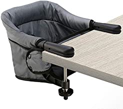 Hook On High Chair, Clip on Table Chair w/Fold-Flat Storage Feeding Seat -Attach to Fast Table Chair for Home or Travel