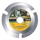 Disco de Cortar Madera 115mm para Amoladora Hoja de Sierra Circular de 3 Dientes para Madera por Poweka