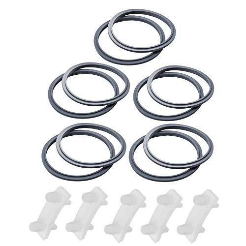 10 piezas de junta y 5 piezas de choque pad accesorios kit piezas de repuesto para Nutribullet 900w modelo licuadora