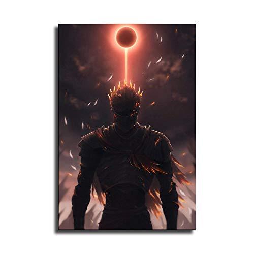 Impression sur toile Dark Souls 3 Dark Sign Art Poster et décoration murale moderne pour chambre à coucher