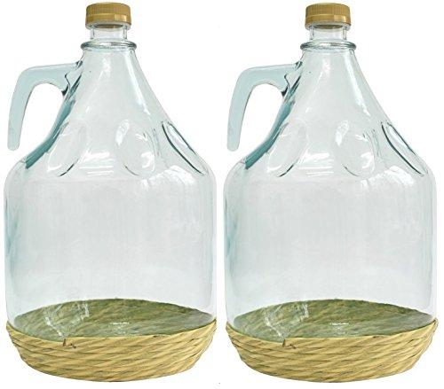 SET di 2 vetro palloncino gärballon vetro bottiglia vino palloncino 3L BDO3Z vetro