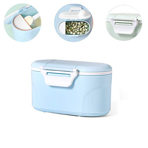 Lowest Prices! Travel Milk Powder Storage Box with Scoop, YEEHO Portable Formula Dispenser with Spoo...