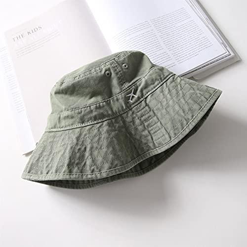 Yunbai Bucket Sombreros Cubo Sombreros Para Hombres Adolescentes, Nuevo Verano Cubo Plegable Sombrero Mujeres Al Aire Libre Pesca Pesca Cabaña Hombre Hombres Y Mujer Sombrero Unisex Fisherman's Sombre