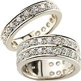 [アトラス] Atrus ハーフエタニティ ペアリング カップル マリッジリング 結婚指輪 リング プラチナ900 Pt900 指輪 手元を華やかに引き立てるエタニティリング