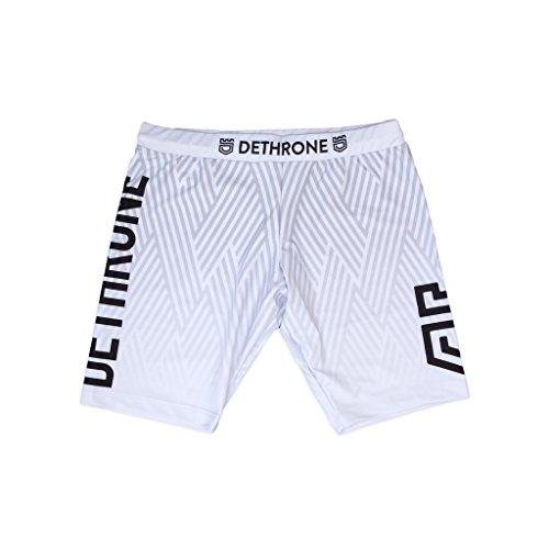 Dethrone Men's Vale Tudo Shorts 2.0 - Long - White - Medium