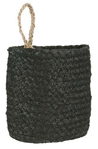 IB Laursen mand met handvat zwart natuur ovaal H = 18 cm bewaardecoratie hangen
