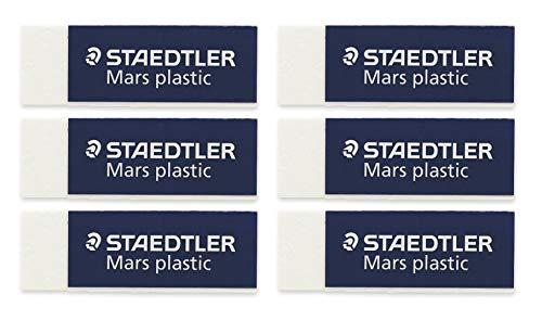 Staedtler Mars Plastic Eraser 52650BK (6-Pack)