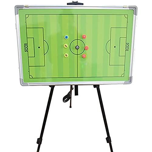 Tipo de Soporte Tablero táctico Tablero de Entrenador de fútbol con Soporte de Pantalla de Pizarra, Equipo portátil Equipo de Entrenamiento Verde, Borrable magnético (Tamaño: 60x45cm)