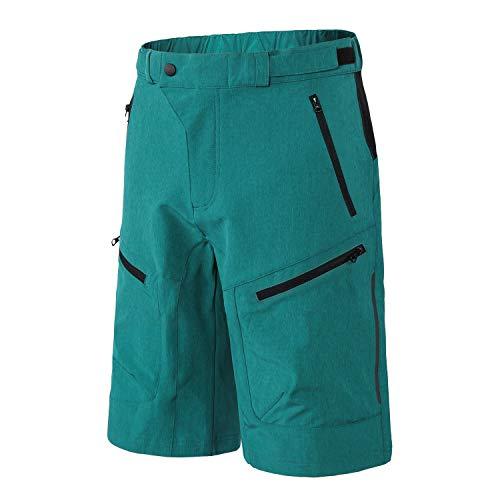 INBIKE Pantalon Corto De MTB Transpirable Fresco Cómodo para Verano, Shorts De Ciclismo Bici Bicicleta Montaña Ciclista para Hombre,Azul L
