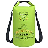 Forbidden Road Waterproof Dry Bag 2L / 5L / 10L / 15L / 20L Roll Top Sack Bag for Kayaking Boating Camping Long Adjustable Shoulder Straps Included (8 Colors)