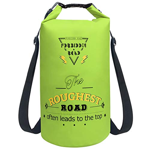 Forbidden Road Waterproof Dry Bag 2L / 5L / 10L / 15L / 20L Roll Top Sack Bag for Kayaking Boating...