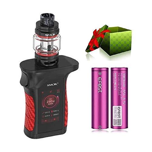 Authentic Smok Mag P3 Kit 230W with TFV16 Mini Tank EU 2ml Capacity with Mesh Coil IP67 Waterproof Vape Mod Kit - No Nicotine (Black red)