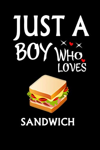 Just A Boy Who Loves Sandwich: Notebook Journal Ideas Gift For Girls & Boys ,Fun Sandwich Notebook Gift For kids For Writing,Journal Soft Glossy Finish For Book Cover is 6 x 9 ,Page 110