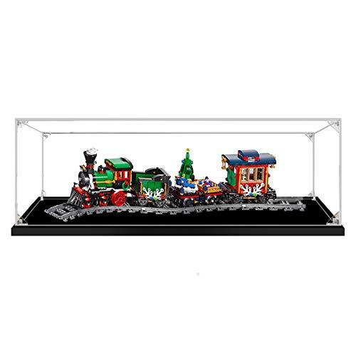 Vitrina de Acrílico para Lego 10254 Creator Expert - Tren Navideño, Display Case Vitrinas para Colecciones Modelismo (Solo Vitrina)