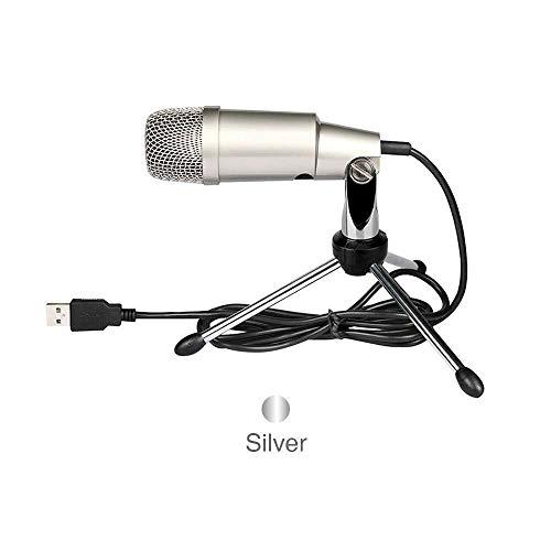 WDOPZMS PC Microfoon USB Wired Condenser Sound Computer Microfoon Met Statief Stand Voor Skype Chatting Zingen Karaoke Computer Laptop