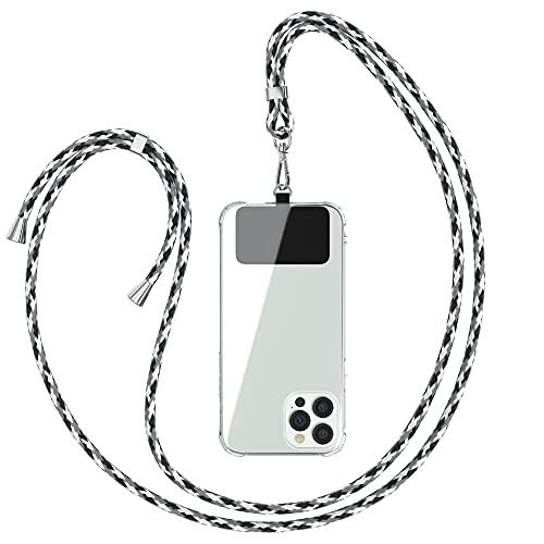 EAZY CASE Universal Handykette geeignet für alle Smartphones, Kette zum Umhängen, Hülle mit Kordel, Smartphonekette für Unterwegs, Handyband mit jeder Hülle kombinierbar, Schwarz Camouflage
