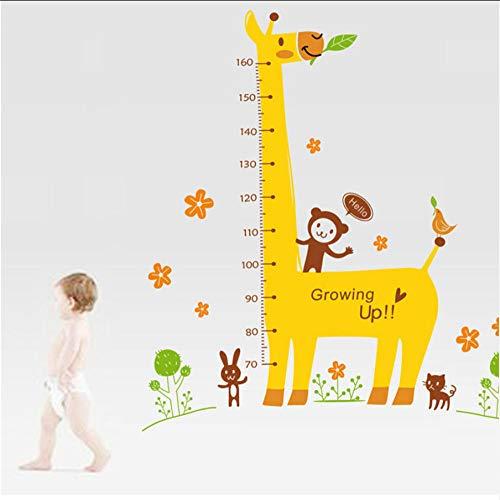 Muursticker Cartoon Maatwerk Muursticker voor kinderkamer Giraffe aap meetlat liniaal sticker kleuterschool wooncultuur 18 oktober