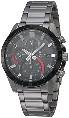 Casio EFR-571DB-1A1VCR, correa de acero inoxidable de cuarzo, plateado, 22 relojes casuales para hombre