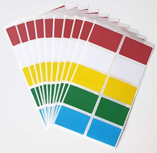 G&E Leipzig 100 Tiefkühletiketten Gefrieretiketten Aufkleber Etiketten in 5 Farben selbstklebend