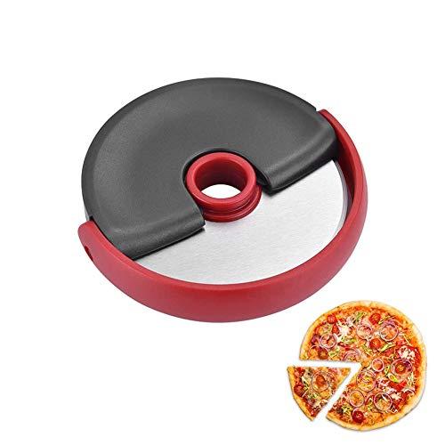 Cortapizzas Cortador de pizza de acero inoxidable/Cortador de pizza redondo/acero inoxidable/Apto para hogar y cocina/rojo