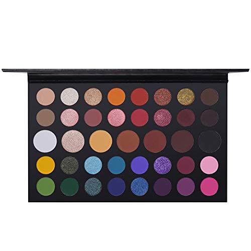 Lidschattenpulver Palette, 39 Farben Nude Shimmer Matt Lidschatten Palette Glitzer Metallic...