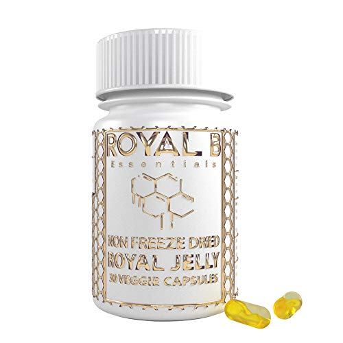 Ultra-Premium Royal Jelly 4,500mg per Jar (Nootropics) in Vegan Capsules | 100% Natural - for Immune Support, Energy & Brain Health | by Royal B Essentials