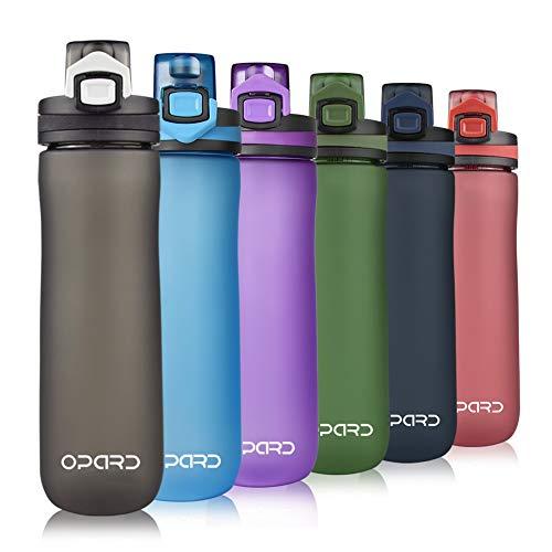 Opard Sports Water Bottle, 600ml BPA Free Non-Toxic Tritan Plastic Drinking...