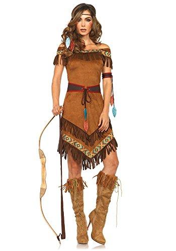 Leg Avenue - Disfraz de india clásica para mujer - Squaw indio - Media sangre sexy