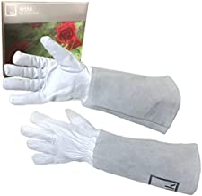 Rose Pruning Gloves Long Gardening Gloves for Women Work Gloves Rose Bush Cut Proof Gloves Garden Gloves Women Rose Gloves Gauntlet Leather Gardening Gloves Womens Garden Gloves Cactus Gloves ArtAK S