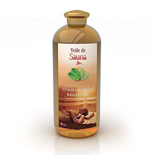 Camylle - Voile de Sauna Eucalyptus/menthe - Fragrances à base d'Huiles Essentielles 100% Pures et Naturelles pour Sauna - Rafraîchissant aux arômes frais et stimulants - 1000ml