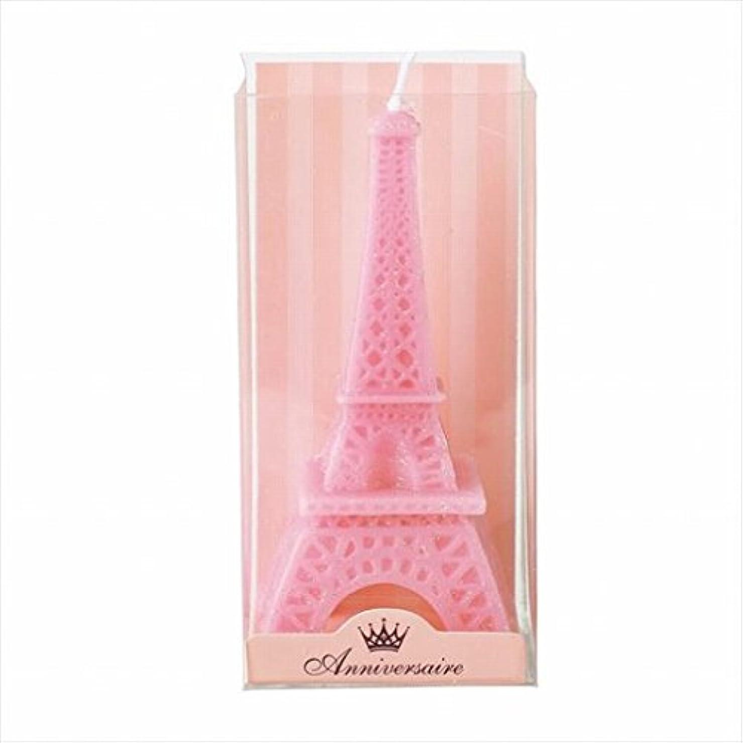 音喜んで悲しむカメヤマキャンドル(kameyama candle) エッフェル塔キャンドル 「 ピンク 」