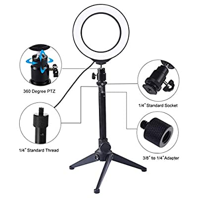 Ring Light with Tripod Stand, USB 3 Modes LED R...
