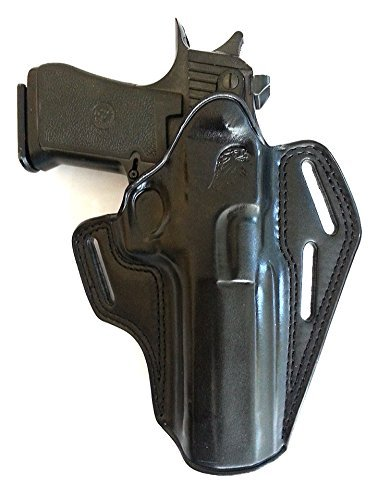 MASC HOLSTERS Premium The Ultimate Leather OWB Pancake Holster with Open Top Fits, Desert Eagle, FITS All CALIBARS with 6'' Barrel, Right Hand Draw, Black Color #1089#