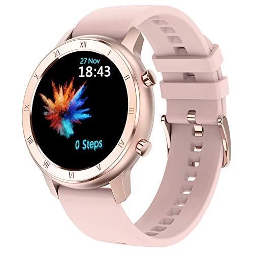 Utry Reloj inteligente para mujer, pantalla táctil de monitor de actividad con monitor de ritmo cardíaco, monitor de sueño, IP68 reloj de fitness impermeable, podómetro,para iOS y Android