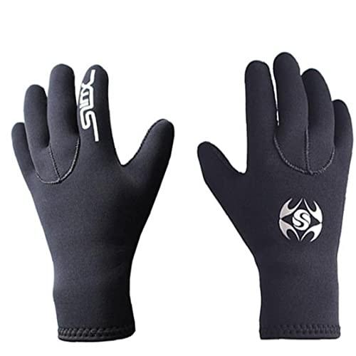 Aiyrchin Guantes De Buceo Guantes De Traje De Neopreno Guantes Elásticos Antideslizantes Scuba Sports Gloves para Bucear Aguas Deportivas Negro (l)