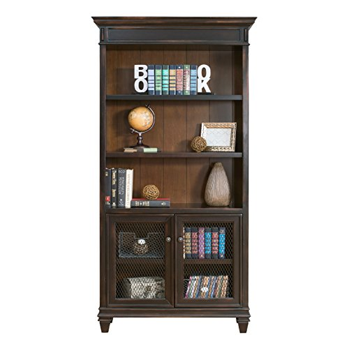 Martin Furniture Hartford Library Bookcase, Brown - Fully Assembled