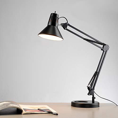 N\A ZGGYA Lámpara De Mesa De Brazo Oscilante Simple Y Moderna Lámpara De Escritorio De Arquitecto De Luminaria LED Lámpara De Mesa Brazo Oscilante Bombilla Regulable Luz De Lectura Ajustable De 360 °