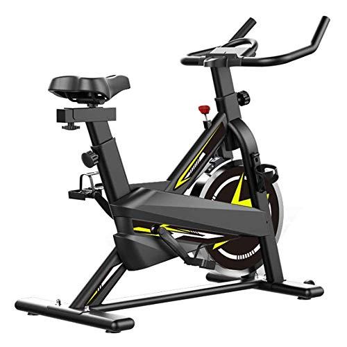 La bicicleta estática cubierta ciclo de la bici, Spin bicicleta estacionaria Equipo de entrenamiento, cromado del volante, cómodo cojín del asiento, silenciosa transmisión del cinturón de bicicleta Ci