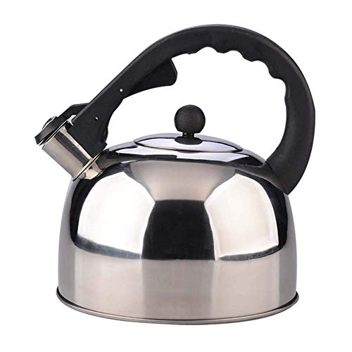 ZMHVOL Modern Stainless Steel Whistling Teapot for ICooker Teapot Coffee Pot Indoor Outdoor Kettle ITea Kettle 3 Liter,Silver BPA-Free Tea Kettle WANGHN