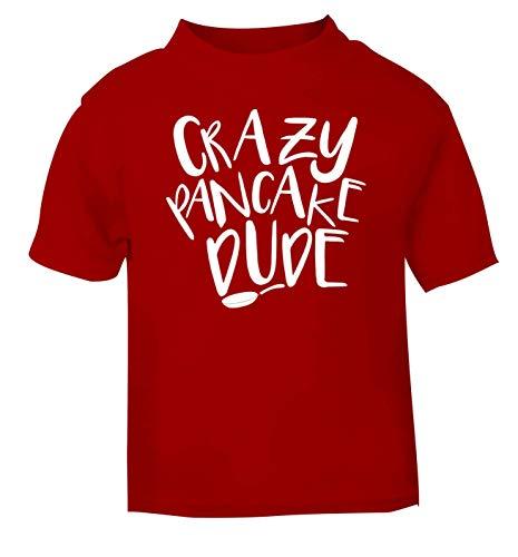 Flox Creative Baby T-Shirt Crazy Pancake Dude, Schwarz Gr. 1-2 Jahre, rot
