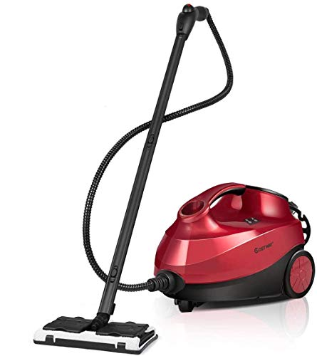 COSTWAY Limpiadora a Vapor con 19 Accesorios, 1,5 L,2000 W y Cierre de Seguridad para Niños para Alfombra Piso Ventana Automático Rojo