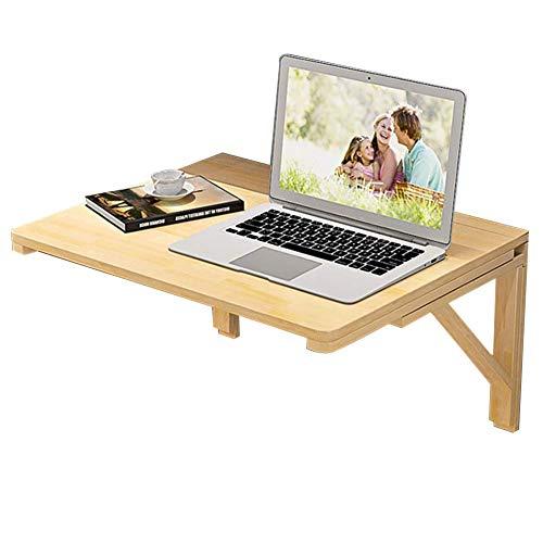 Wandmontierter Computertisch aus Massivem Holz Faltbarer Haushalts-Esstisch Bürotisch, Multi-Size Optional, BOSS LV, Holzfarbe,