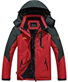 Ski Jacket Men Waterproof Jackets Winter Jacket Fleece Jacket Rain Jacket Puffer Jacket Snowboarding Jacket Winter Coats for Men Soft Shell Jackets Mens Parka Red