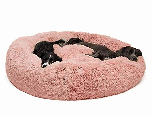 ZZAI Cama para Mascotas Gatos Y Perros Cama para Mascotas De Felpa Donut Cuddler Cálido Kennel Soft Puppy Sofa