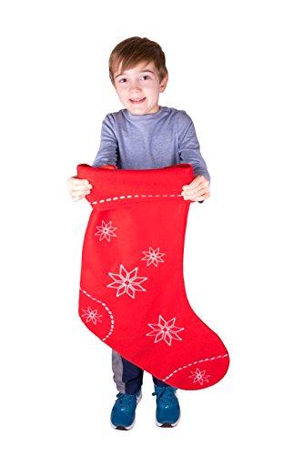 Clever Creations - Calza di Natale Extra Large - per Adulti/Bambini - per Piccoli Regali e dolcetti...