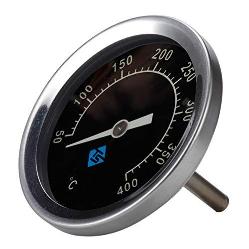 R-WEICHONG Termómetro de barbacoa bimetálico de acero inoxidable, 50-400 ℃, analógico, tapa bimetálica con luz nocturna